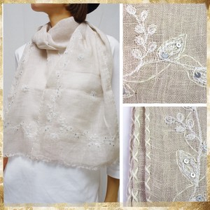 S/S Countermeasure Botanical Embroidery Botanical Embroidery Stole