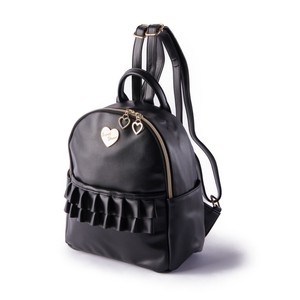 Frill Heart Charm Backpack Ladies Bag