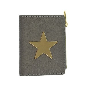 Star Plate Clamshell Wallet Flat Wallet Label Ladies