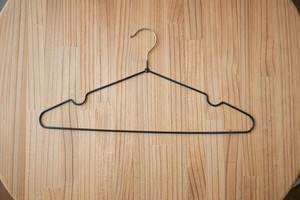 Slip Clothes Hanger 10 Pcs Set Black