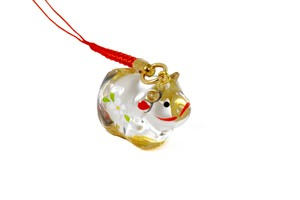 Gold Decoration Glass Decoration Cell Phone Charm