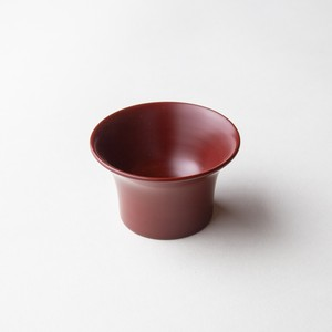 "Ancient ""Akane"" lacquer Sake Cup - Edge curve"