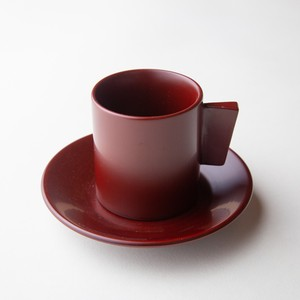 "Ancient ""Akane"" lacquer Demitasse Cup"
