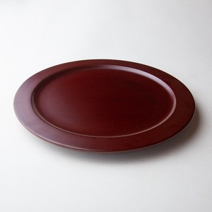 "Ancient ""Akane"" lacquer Dinner Plate (size 9) made of horse chestnut"