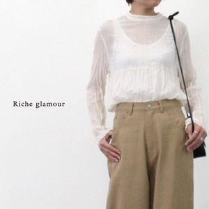 AL Phone Random Pleat High Neck Blouse