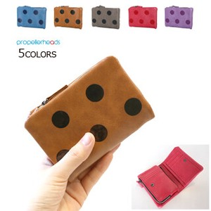 Artificial Leather Dot Wallet