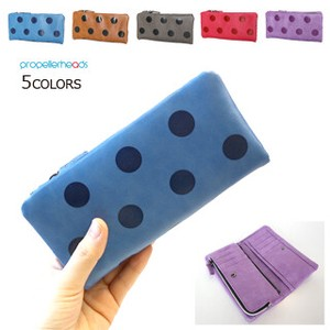 Artificial Leather Dot Long Wallet
