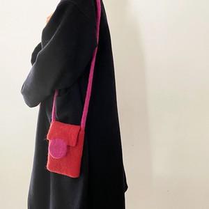 アンダイドプラスオリジナル カラーフェルトバッグ ポシェット 4色