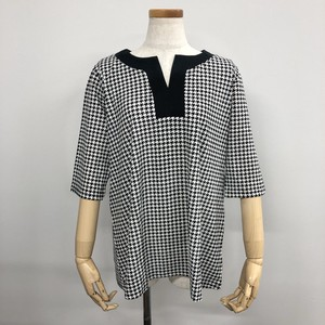 Cotton Houndstooth Pattern Print Tunic