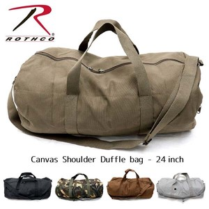 Los Canvas Shoulder Bag Duffle Trip Bag Larger Military