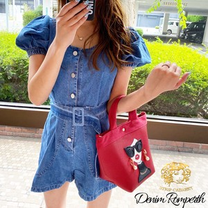 [ 2020NewItem ] Rompers Denim All-in-one One-piece Dress Blue