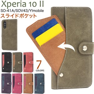 Smartphone Case Xperia Y!mobile Ride Card Pocket Notebook Type Case
