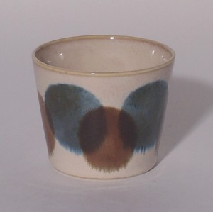 Blue Chocolate Cup Mino Ware Plates & Utensil Pottery