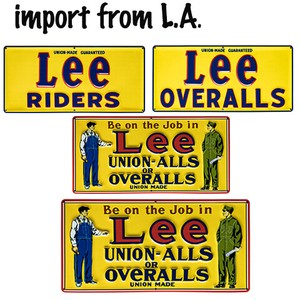 【From L.A.】【復刻版】LEE Emboss Metal Sign