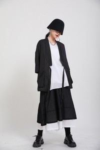 Dark Thin Solid Pocket Coat