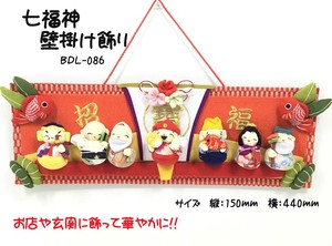 New Year Seven Deities Of Good Luck Wall Hanging Product Decoration God Daikokuten Ebisu