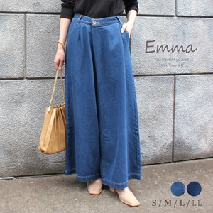 [ 2020NewItem ] Wrap wide pants Denim