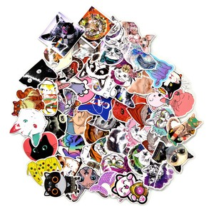 Sticker SEAL 50 Pcs Cat cat Variety Set cat