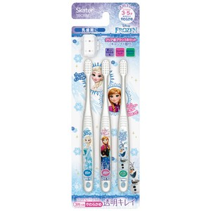 Clear Toothbrush 3Pcs set Frozen