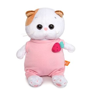 Baby Pink Strawberry Rompers Cat Soft Toy Gift Present Celebration