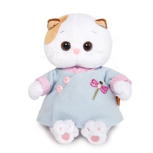 Baby Blue China Dress Cat Soft Toy Gift Present Celebration