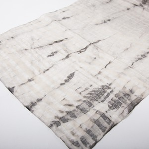 """Sumizome"" (Sumi-ink Dyeing) Silk Cotton mixed Scarf"