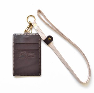 Tochigi Leather Commuter Pass Holder Case Strap Attached Men's Ladies Brown
