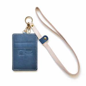Tochigi Leather Commuter Pass Holder Case Strap Attached Men's Ladies Navy