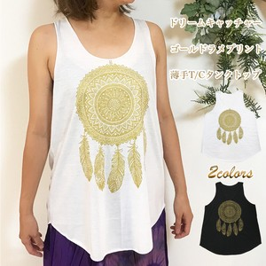 Dream Catcher Gold lame Print Tank Top Thin Loungewear