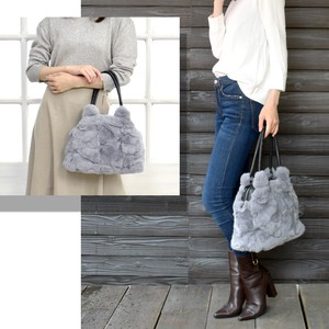 [ 2020NewItem ] Rex Fur Bag Real Fur Tote Bag Genuine Leather Bag