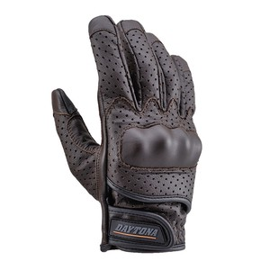 Skin Punching Mesh Glove Type Smartphone Brown