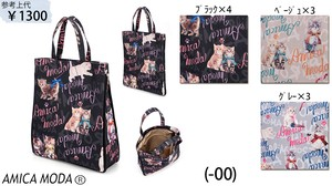 [ 2020NewItem ] A4 size Cat Tote Bag Ribbon Cat