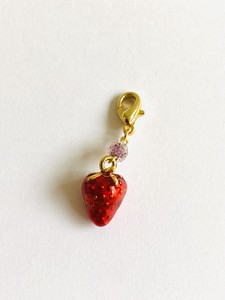 Attached Strawberry Mask Charm