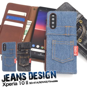 Xperia SO SO Y!mobile Design Notebook Type Case Denim Design Notebook Type Case