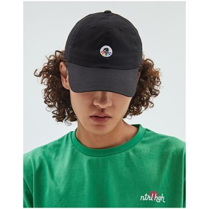 Cap One Point Black Cotton Hats & Cap Unisex