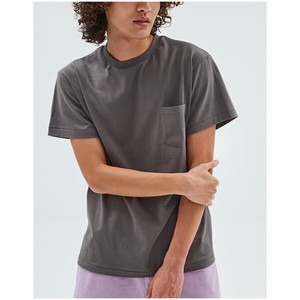 Pocket T-shirt Pale Color Cotton Easy To Wear Casual Unisex