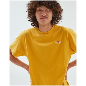 T-shirt Pale Color Yellow Cotton Easy To Wear Casual Unisex