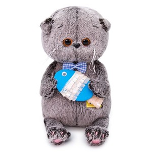 Baby Blue Cat Soft Toy Gift Present Celebration