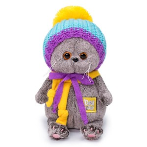 Baby Colorful Knitted Hat Cat Soft Toy Gift Present Celebration
