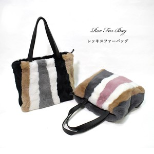 [ 2020NewItem ] Rex Fur Bag Plain Combi Real Fur Genuine Leather Bag