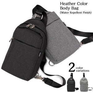 Water-Repellent Processing Heather Color Body Bag