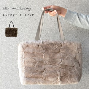 [ 2020NewItem ] Rex Fur Tote Bag Real Fur Genuine Leather Bag Bag