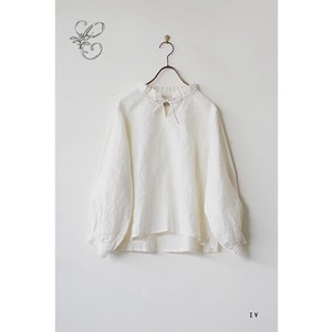 14S Belgian Linen Blouse with Ribbon
