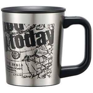 Attached Stainless Mug Cup Map