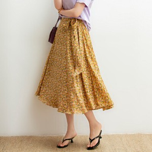[ 2020NewItem ] Colorful Floral Pattern Closs Lace Floral Skirt Ladies