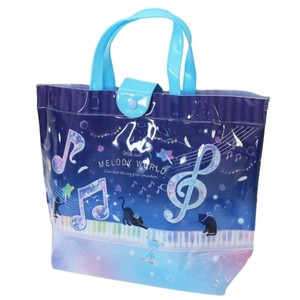 cat Musical Note Beast Vinyl Tote