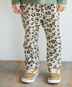Raised Back Unisex Full Length Sarrouel Pants Plain Repeating Pattern Camouflage Leopard