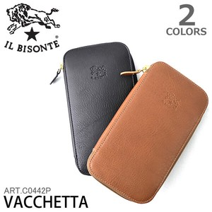 Leather Long Wallet Round Cow Leather Wallet Italy
