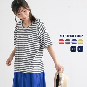 Rack Print Border Ladies Short Sleeve Crew Neck