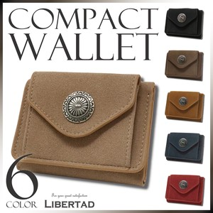 S/S Compact Wallet Trifold Wallet Fake Suede Men's Ladies Fancy Goods